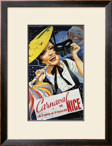 Carnaval de Nice Framed Giclee Print