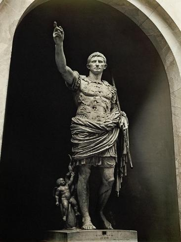 Emperor Augustus in Military Dress, Marble Figure from the Prima Porta Giclee Print