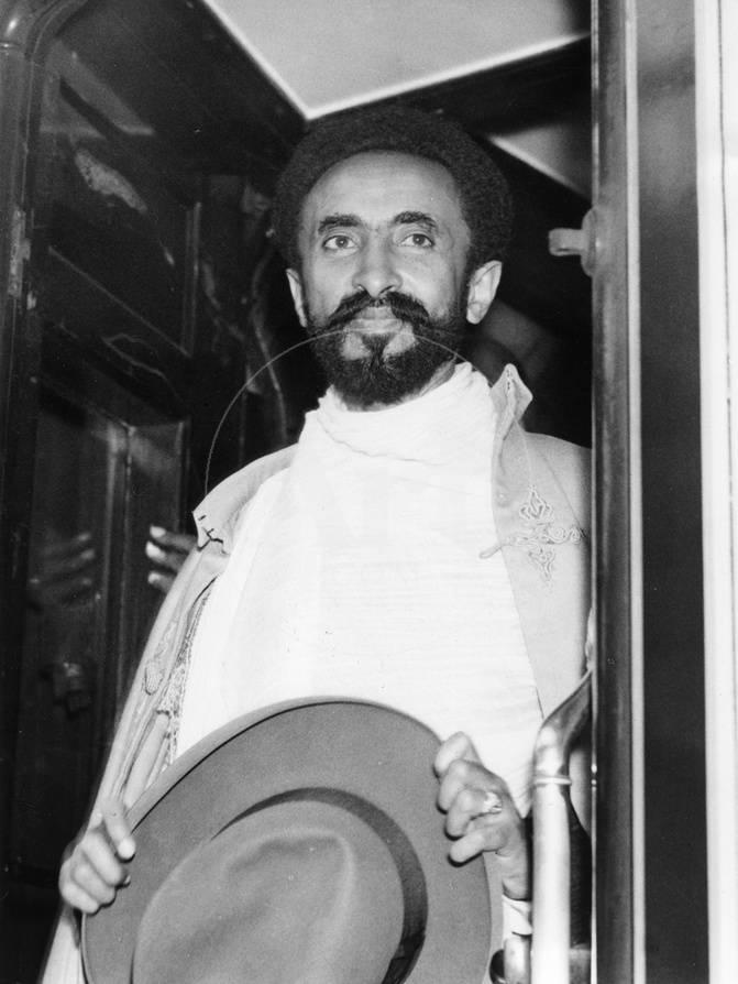 Emperor Haile Selassie I of Ethiopia Photographed in the Doorway of His  Carriage