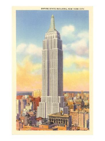 Empire State Building, New York City Art Print