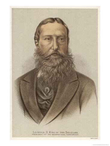 Leopold II King of Belgium and President of the Geographical Conference Giclee Print