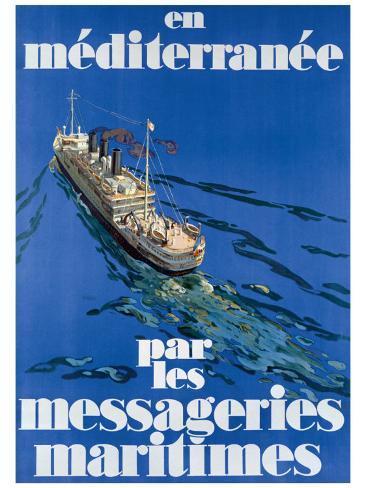 En Mediterranee Stampa giclée