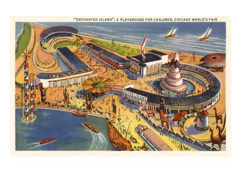 Enchanted Island Playground, Chicago World's Fair Art Print