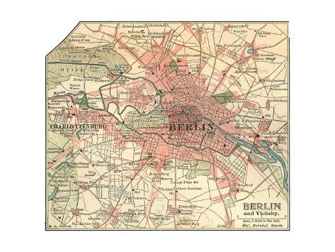 Map of Berlin (C. 1900), Maps Giclee Print by Encyclopaedia ...