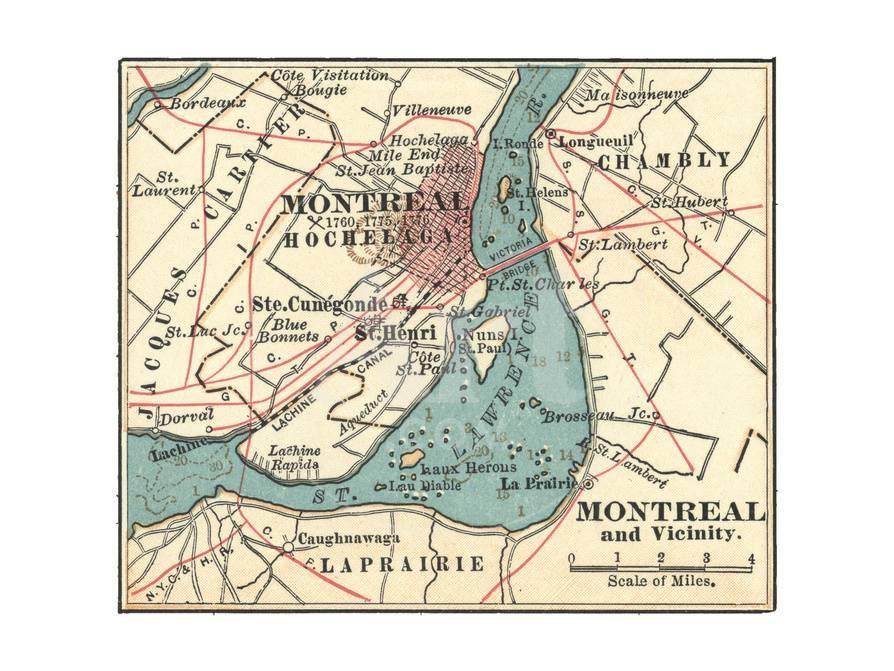 Map of Montreal (C. 1900), Maps Giclee Print by Encyclopaedia ...