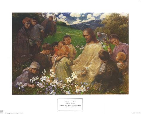 Christ and the Little Children Art Print