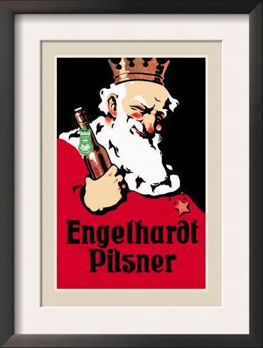 Engelhardt Pilsner Framed Art Print