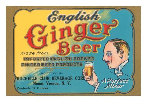English Ginger Beer Art Print