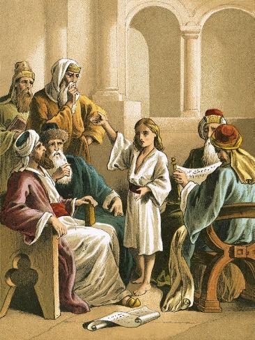 Jesus Disputing with the Doctors Lámina giclée