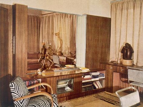 Living Room Designed by Serge Chermayeff for the Sculptor A.G. Grinling Giclee Print