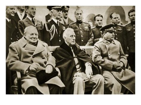 The 'Big Three' at the Yalta Conference Giclee Print