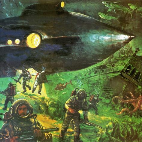 20,000 Leagues under the Sea Giclee Print