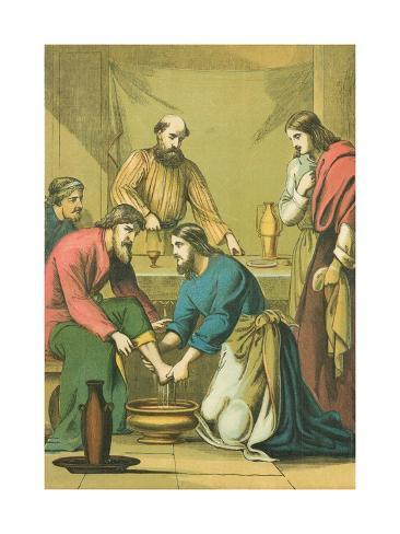 Christ Washing His Disciples' Feet Lámina giclée