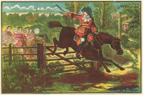 Dick Turpin Defying the Bow Street Runners Giclee Print