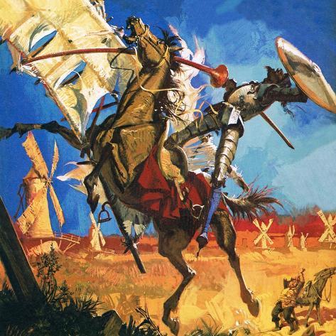 Don Quixote Giclee Print