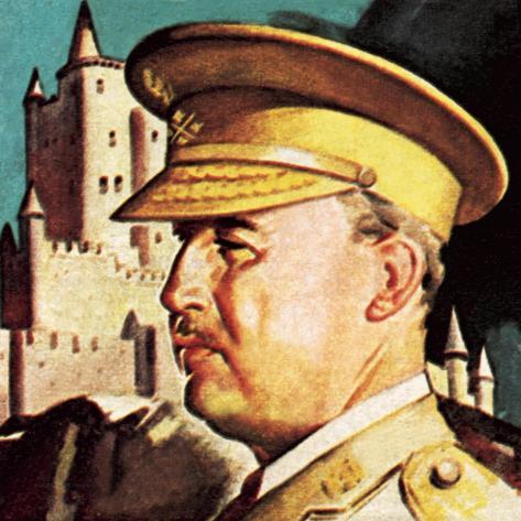 General Franco. President and Dictator of Spain. Lámina giclée