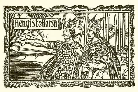 Hengist and Horsa Lámina giclée
