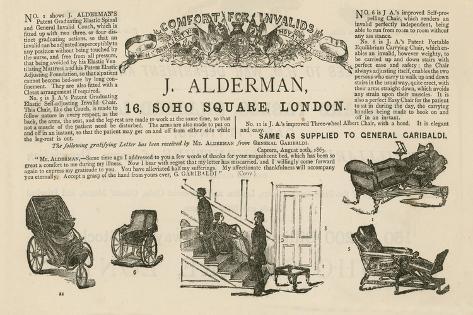 J Alderman, 16 Soho Square, London Lámina giclée