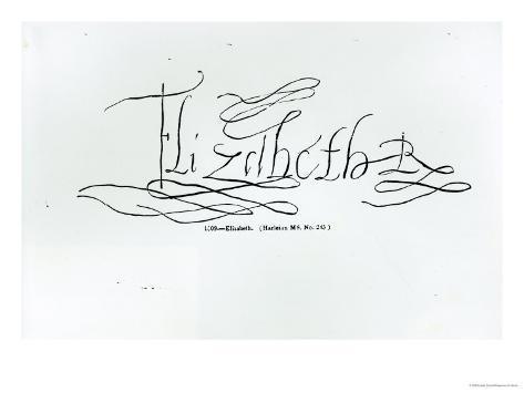 Signature of Queen Elizabeth I Giclee Print