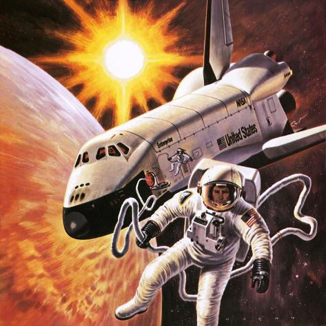 Space Suit, as Imagined in 1977 Giclee Print