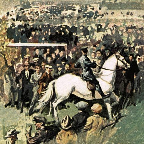 White Horse at the 1923 Cup Final at Wembley Giclee Print