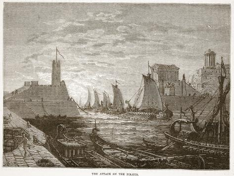 The Attack on the Piraeus (Litho) Stampa giclée