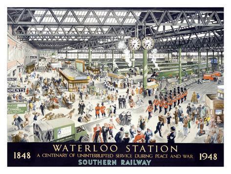 English Waterloo Railway, c.1948 Giclee Print