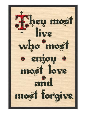 Enjoy, Love, Forgive Stretched Canvas Print