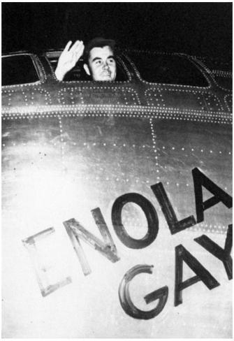 Enola Gay (Col. Paul Tibbets Waving from Cockpit) Archival Photo Poster Poster