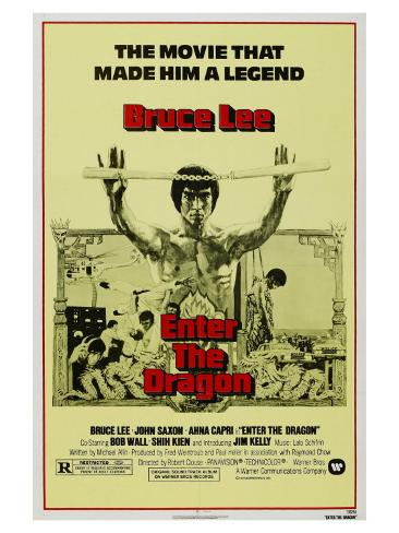 Enter the Dragon, 1973 Stretched Canvas Print