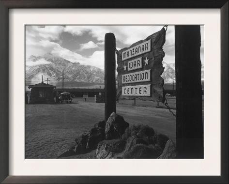 Entrance to Manzanar Relocation Center Framed Art Print
