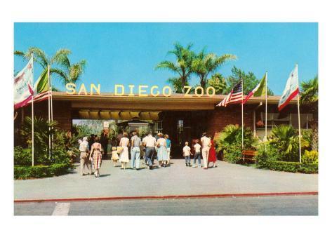 Entrance to San Diego Zoo Art Print