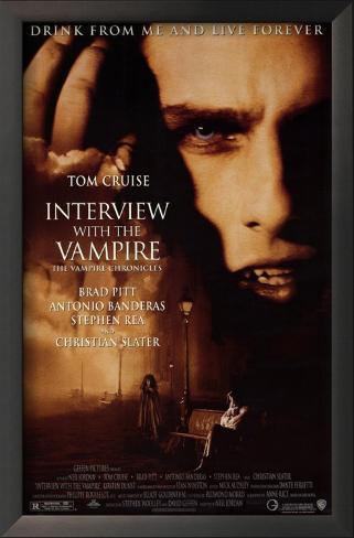 Entrevista com o Vampiro Impressão artística emoldurada