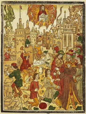 Entry into City of God, Illustration for City 'Of God Lámina giclée