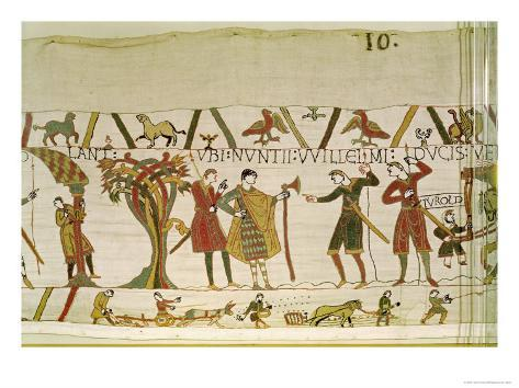 Envoys from Duke William Are Sent to Count Guy of Ponthieu, Bayeux Tapestry, Before 1082 Lámina giclée