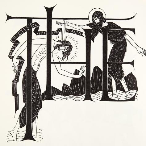 The Baptism of Jesus by John the Baptist from the Four Gospels, 1931 Lámina giclée