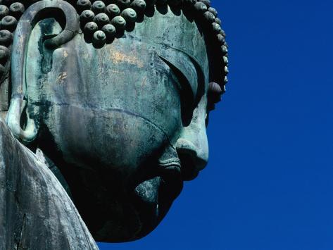 Detail of Daibutsu Statue ('Big Buddha'), Built in 1252, Kamakura, Kanto, Japan Photographic Print