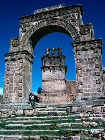 Stone Arch, Juli, Puno, Peru Photographic Print