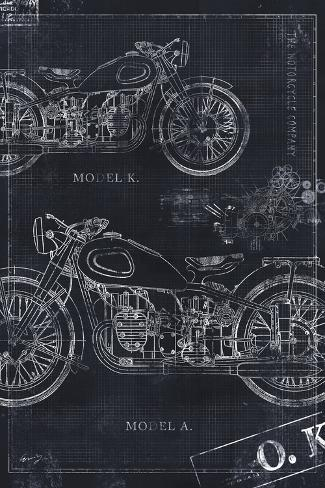 Motorcycle co blueprint black ii posters by eric yang allposters motorcycle co blueprint black ii malvernweather Gallery