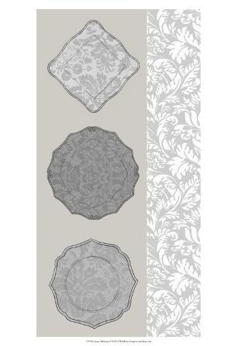 Linear Tableware II Art Print