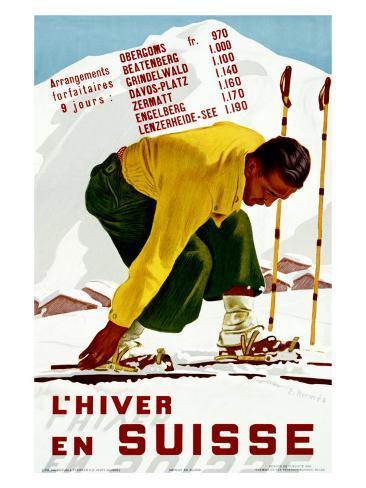 Hiver En Suisse Giclee Print