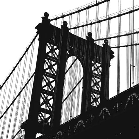 Manhattan Bridge Silhouette (detail) Art Print