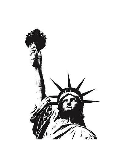Statue of Liberty (outline) Art Print