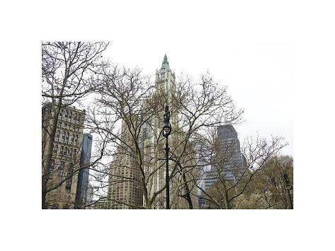 Woolworth Building from City Hall Park Giclee Print