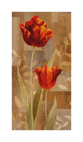 Red Impression II Giclee Print