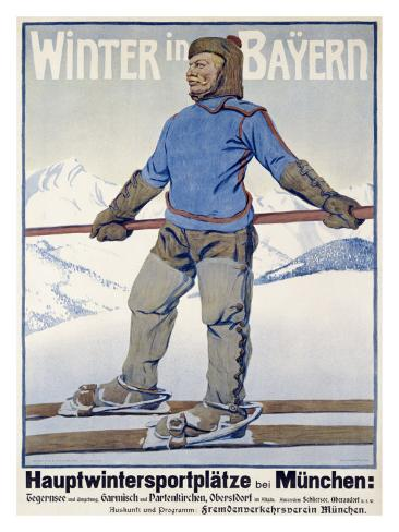 Winter in Bayern Giclee Print