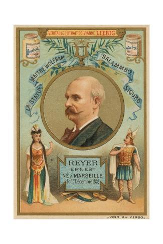 Ernest Reyer Stretched Canvas Print