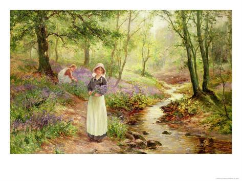 The Bluebell Glade Giclee Print