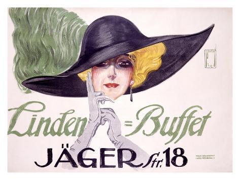 Linden Buffet Giclee Print