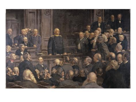 Conference of the German Reichstag on the 6th February 1888, 1896 Giclee Print